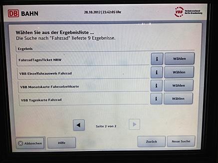 Bayernticket single am automat